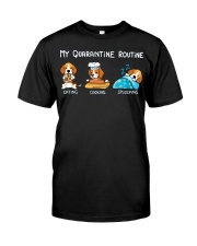 My Quarantine Routine beagle2 Classic T-Shirt thumbnail
