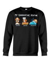My Quarantine Routine beagle2 Crewneck Sweatshirt tile