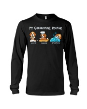 My Quarantine Routine beagle2 Long Sleeve Tee thumbnail