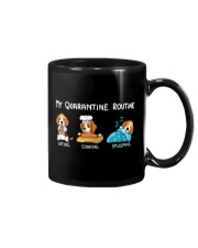 My Quarantine Routine beagle2 Mug tile