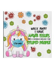 Unicorn Walk Away I Have Anger Issues Face Mask Gifts For Unicorn Lover Cloth face mask aos-face-mask-coverlet-lifestyle-front-02