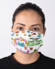 Unicorn Walk Away I Have Anger Issues Face Mask Gifts For Unicorn Lover Cloth face mask aos-face-mask-lifestyle-01