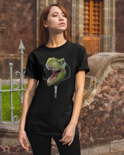 dinosaur zipper shirt Classic T-Shirt apparel-classic-tshirt-lifestyle-06