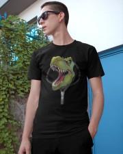 dinosaur zipper shirt Classic T-Shirt apparel-classic-tshirt-lifestyle-17