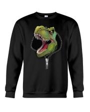 dinosaur zipper shirt Crewneck Sweatshirt thumbnail