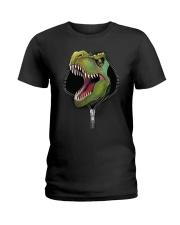 dinosaur zipper shirt Ladies T-Shirt thumbnail