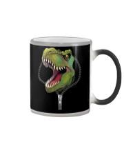 dinosaur zipper shirt Color Changing Mug thumbnail