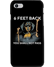 6 Feet Back You Shall Not Pass dachshund Phone Case thumbnail