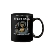 6 Feet Back You Shall Not Pass dachshund Mug thumbnail