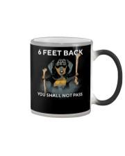 6 Feet Back You Shall Not Pass dachshund Color Changing Mug thumbnail