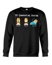 My Quarantine Routine Shiba inu3 Crewneck Sweatshirt thumbnail