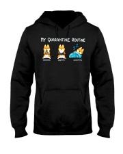 My Quarantine Routine Shiba inu3 Hooded Sweatshirt thumbnail