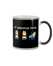 My Quarantine Routine Shiba inu3 Color Changing Mug thumbnail