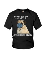 Picture It Quarantine 2020 pug2 Youth T-Shirt tile