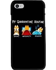 My Quarantine Routine Shiba inu2 Phone Case tile