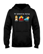 My Quarantine Routine Shiba inu2 Hooded Sweatshirt tile