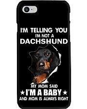 Dachshund I'm Telling You - Funny Dog shirts Phone Case thumbnail