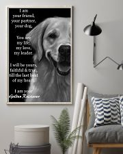 I Am Your Friend Your Partner  Golden Retriever 11x17 Poster lifestyle-poster-1
