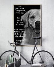 I Am Your Friend Your Partner  Golden Retriever 11x17 Poster lifestyle-poster-7
