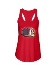 Bulldog T-shirt Cute Dog Ladies Flowy Tank thumbnail