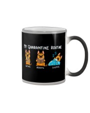 My Quarantine Routine German Shepherd2 Color Changing Mug thumbnail