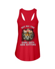 hey all you cool cats and kittens tiger shit Ladies Flowy Tank thumbnail
