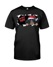 Dachshund Six Feet People Shirt Merry Christmas Tee Gifts For Father Day Classic T-Shirt front