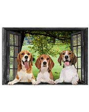 Beagle Through The Window Wall Home Decor 17x11 Poster front