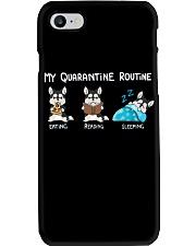 My Quarantine Routine husky Phone Case thumbnail