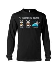 My Quarantine Routine husky Long Sleeve Tee thumbnail