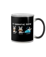 My Quarantine Routine husky Color Changing Mug thumbnail