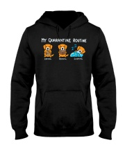My Quarantine Routine Golden Retriever2 Hooded Sweatshirt thumbnail