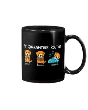 My Quarantine Routine Golden Retriever2 Mug thumbnail