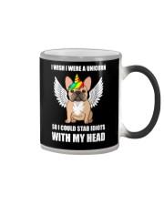 I Wish I Were A Unicorn So I Could Stab Frenchie Color Changing Mug thumbnail