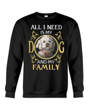 All L Need Is My And My Family poodle Crewneck Sweatshirt thumbnail