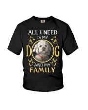 All L Need Is My And My Family poodle Youth T-Shirt thumbnail