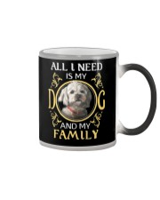 All L Need Is My And My Family poodle Color Changing Mug thumbnail