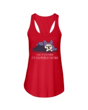 I Like To Stay Insde It'S Too Peopley frenchie 1 Ladies Flowy Tank thumbnail