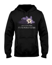I Like To Stay Insde It'S Too Peopley frenchie 1 Hooded Sweatshirt thumbnail
