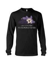 I Like To Stay Insde It'S Too Peopley frenchie 1 Long Sleeve Tee thumbnail