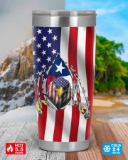 Eagle Texas Inside American Flag 4th Of July Gifts 20oz Tumbler aos-20oz-tumbler-lifestyle-front-42