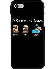 My Quarantine Routine  pug4 Phone Case thumbnail