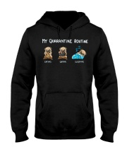 My Quarantine Routine  pug4 Hooded Sweatshirt thumbnail