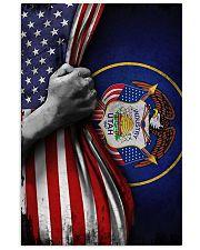 Utah Flag Inside American Flag Poster Industry Utah 1847 Wall Decor 11x17 Poster front