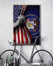 Utah Flag Inside American Flag Poster Industry Utah 1847 Wall Decor 11x17 Poster lifestyle-poster-7