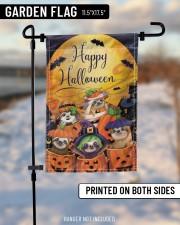 """Sloth Out Of Pumpkin Flag Happy Halloween Home Decor 11.5""""x17.5"""" Garden Flag aos-garden-flag-11-5-x-17-5-lifestyle-front-14"""