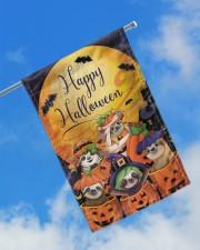"""Sloth Out Of Pumpkin Flag Happy Halloween Home Decor 11.5""""x17.5"""" Garden Flag aos-garden-flag-11-5-x-17-5-lifestyle-front-16"""