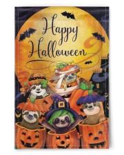 "Sloth Out Of Pumpkin Flag Happy Halloween Home Decor 11.5""x17.5"" Garden Flag front"