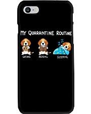 My Quarantine Routine beagle4 Phone Case thumbnail