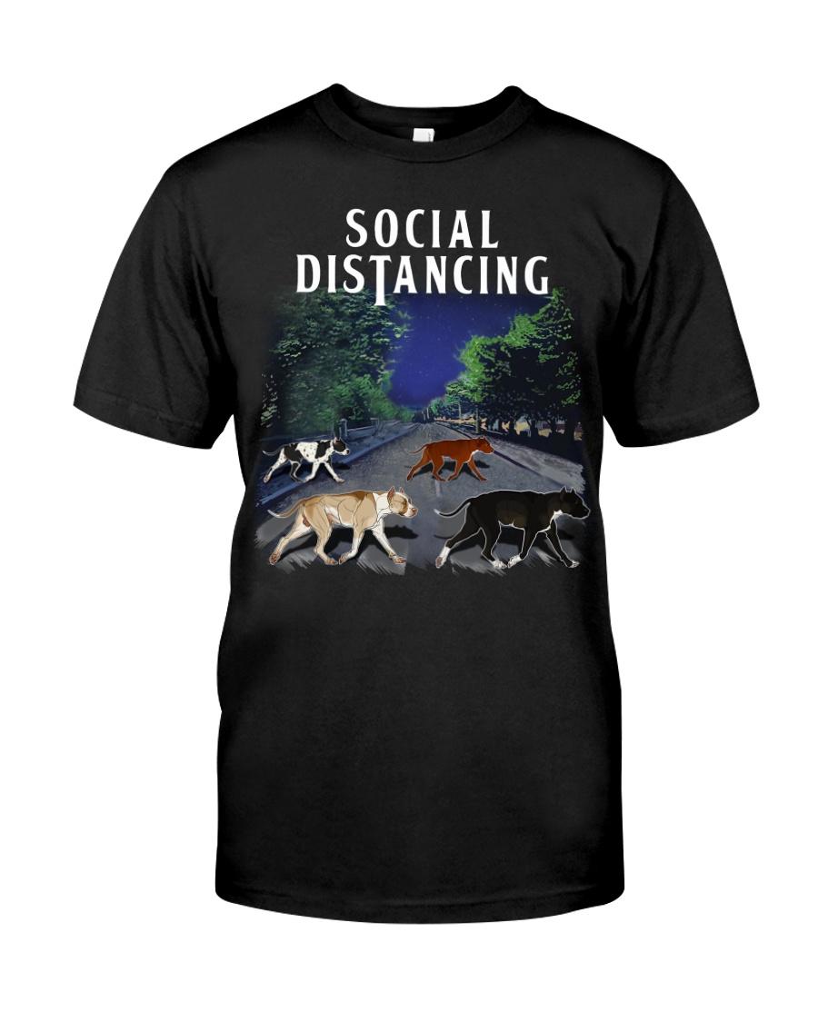 Social Distancing Pitbull Social Distancing Classic T-Shirt